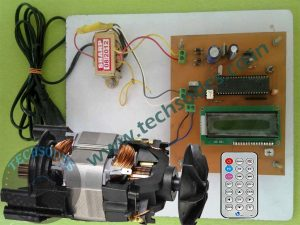 Induction Motor Speed Control Using IR Remote With ZVS