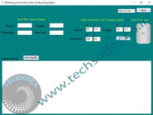 Monitoring And Control Of Water Treatment using xbee software